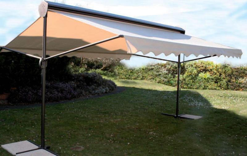 Parasol ombre et lumi re 2 pans - Grand parasol ...