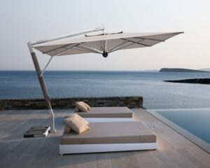 parasol de jardin excentr d port terrasse grand parasol g ant bois alu. Black Bedroom Furniture Sets. Home Design Ideas