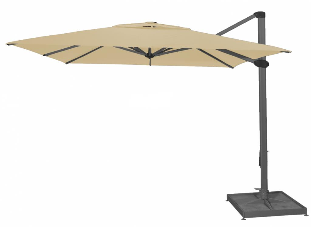 palestro solero parasol d port excentr en 3x4m ou 4x4m pour terrasse hotel restaurant maison. Black Bedroom Furniture Sets. Home Design Ideas