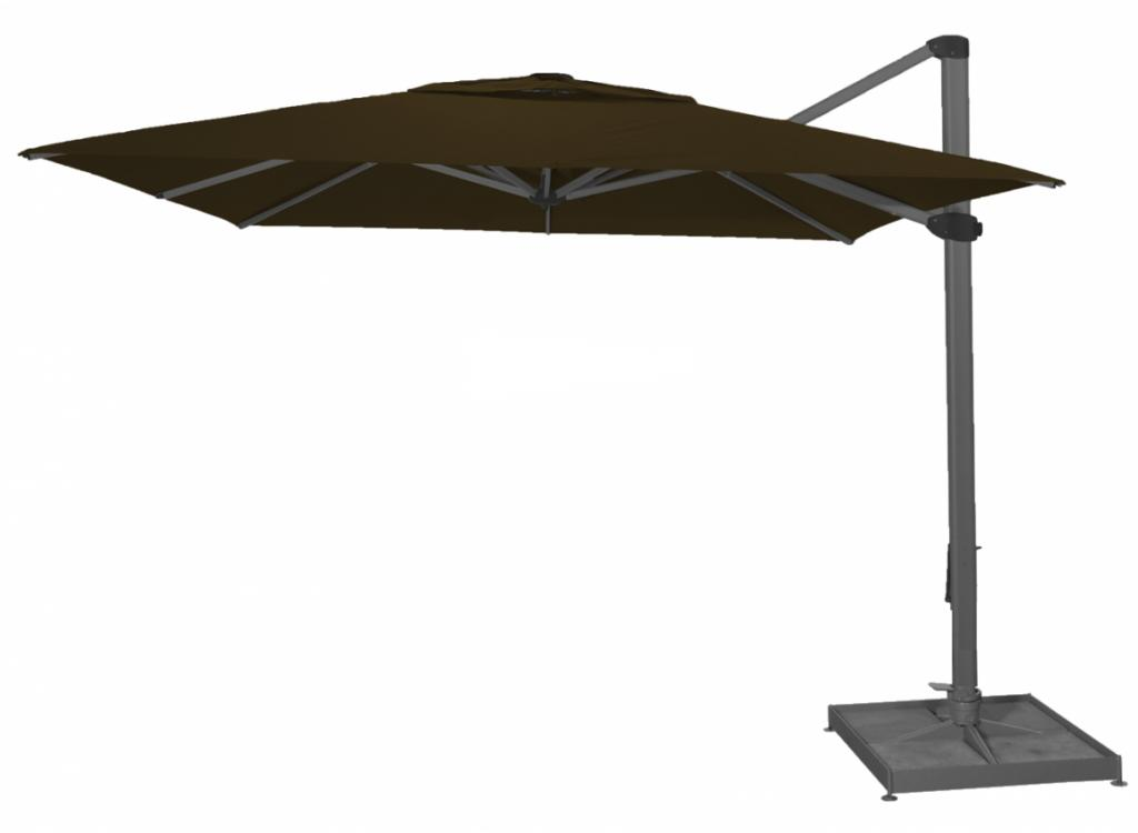 Palestro solero parasol excentré taupe carré 4x4m rectangle 3x4m