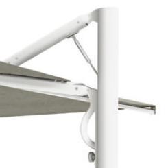 Parasol aluminium gris Astro SCOLARO