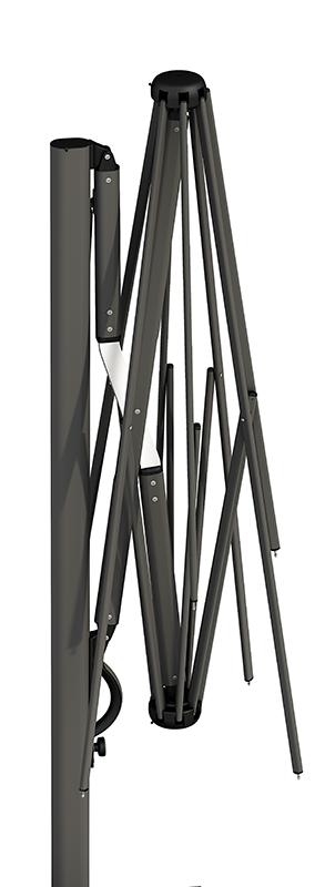 parasol déporté armature aluminium qualité luxe