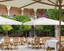 Grand parasol design en bois Palladio Telescopic SCOLARO