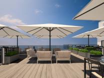 parasol géant design Prostor P8 carré 4x4m aluminium