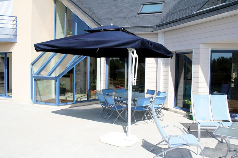 parasol d cor d 39 honfleur parasol mat excentr. Black Bedroom Furniture Sets. Home Design Ideas
