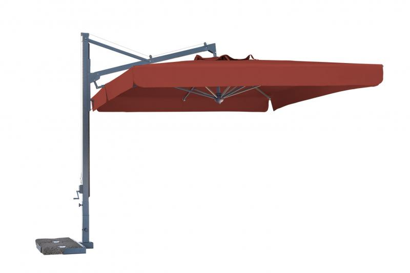 Parasol déporté rectangle 3x4m Galileo Dark SCOLARO