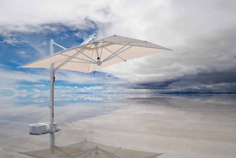 Parasol deporte aluminium inox jardin Galileo Starwhite ou Inox SCOLARO