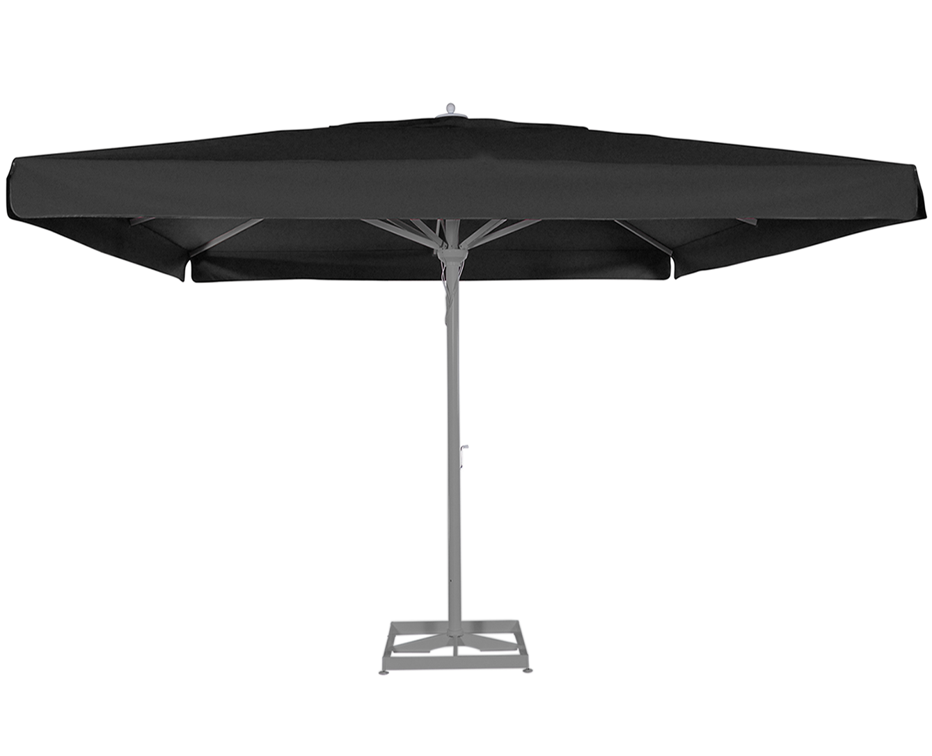 maestro prestige grand parasol mat central en alu carr 4x4m. Black Bedroom Furniture Sets. Home Design Ideas