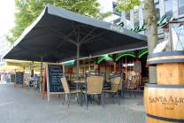 grand parasol restaurant professionnel 4x4m