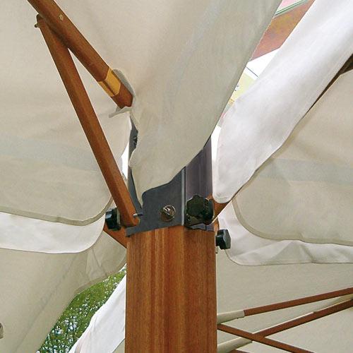 Parasol 1 poteau 4 toiles pour terrasse Alu Poker Scolaro SCOLARO
