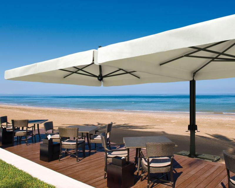 parasol g ant scolaro alu double 2 parasols 3x6m et. Black Bedroom Furniture Sets. Home Design Ideas