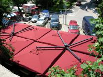 Parasol déporté rectangle 3x6m Alu Double Scolaro SCOLARO