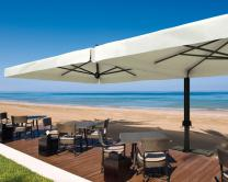 Parasol déporté rectangle 3.5x7m Alu Double Scolaro SCOLARO