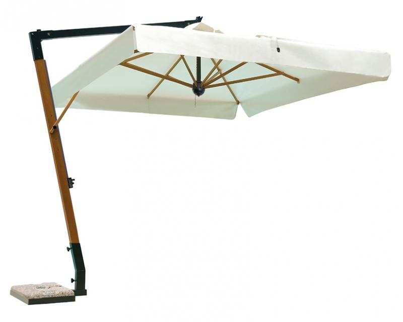 Parasol d port pour terrasse grand parasol excentr de - Parasol deporte haut de gamme ...