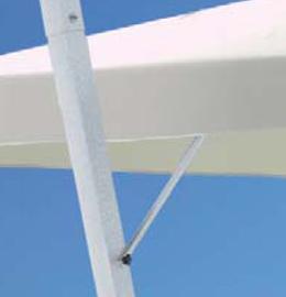 Parasol déporté noir Rimini Braccio SCOLARO