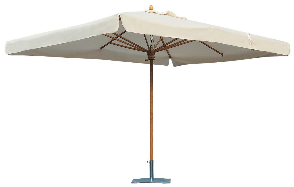 Parasol bois taupe noir blanc ecru terra cotta gris Palladio Standard SCOLARO