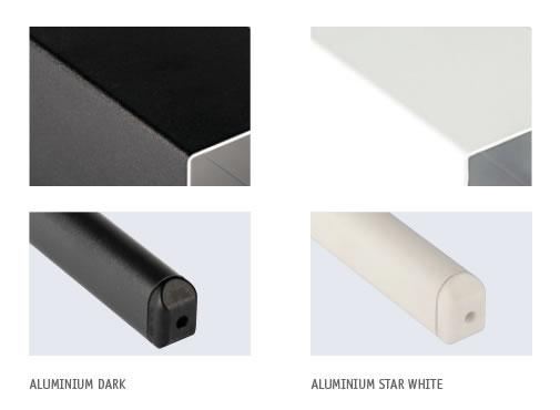 Armature aluminium parasol capri dark starwhite