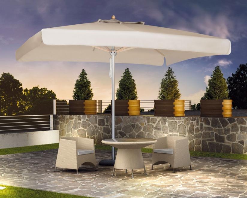 parasol en alu vernis blanc 3x3m 3x4m pour. Black Bedroom Furniture Sets. Home Design Ideas