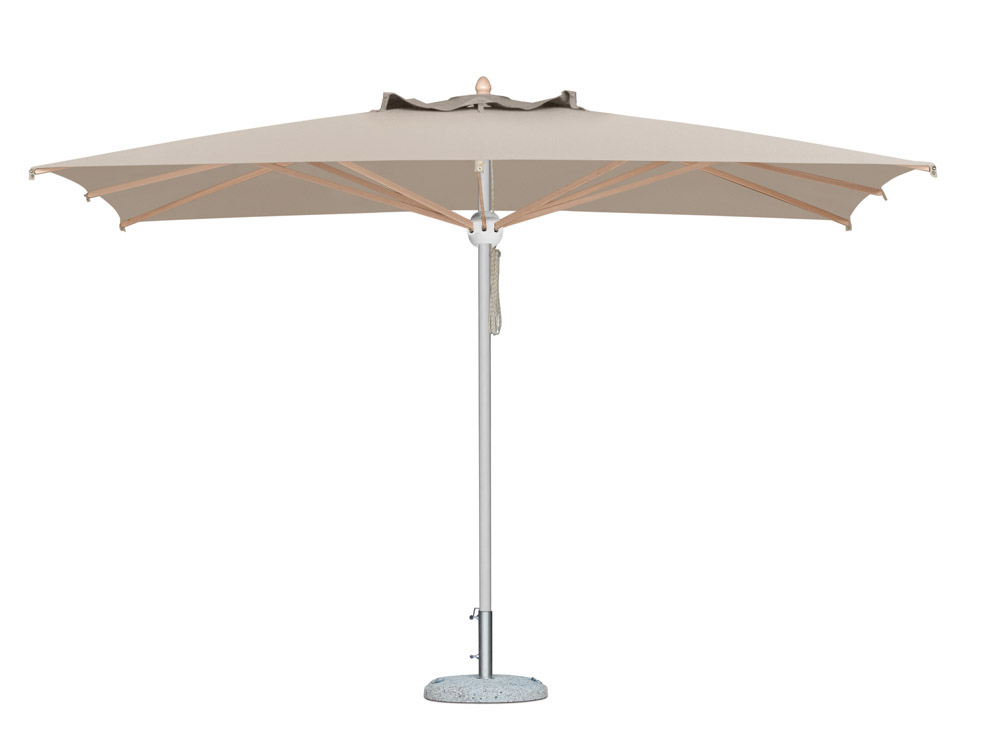 parasol en alu vernis blanc 3x3m 3x4m pour terrasse jardin piscine. Black Bedroom Furniture Sets. Home Design Ideas