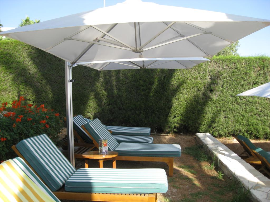 Double parasol rectangle pour terrasse Prostor P6 PROSTOR