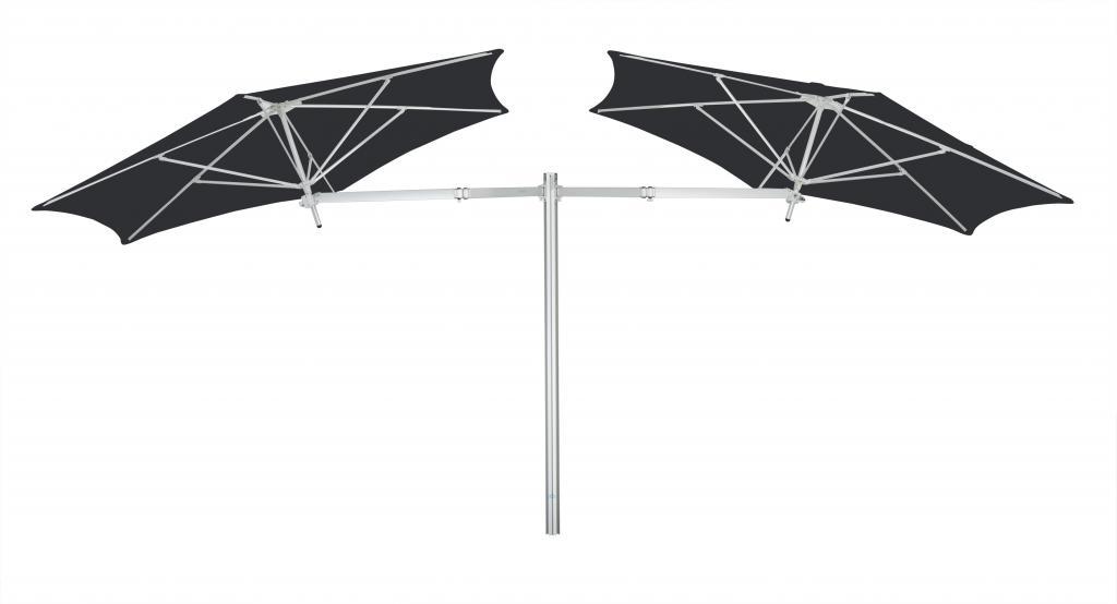 Parasol 1 poteau + 1 parasol (bras 2m + armature + toile) Paraflex Evolution UMBROSA