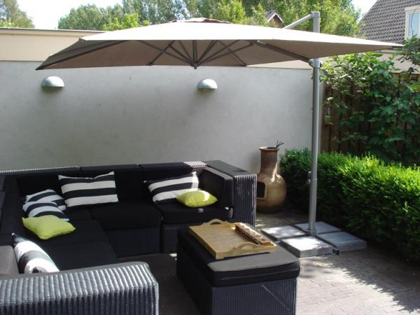 parasol haut de gamme d port parasol excentr parasol haut de gamme terrasse grand parasol. Black Bedroom Furniture Sets. Home Design Ideas